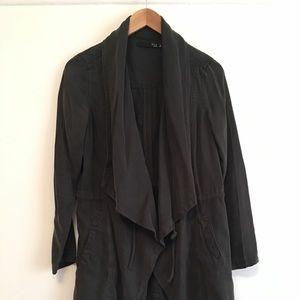 Max Jeans Draped Gray Jacket - XS